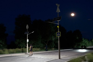 Системы освещения пешеходных переходов